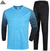 Kids Survetement Football 2017 Soccer Jersey Sets Football Goalkeeper Training Suit Uniforms Boys Football Goalie Tracksuits Kit