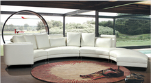 Leather corner sofa for sofas for living room with genuine leather sofa set(China)
