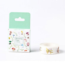 1.5cm*10m mushroom garden washi tape sticker kawaii scrapbooking planner masking tape DIY notebook decoration tape stationery