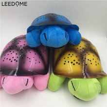 Turtle Led Night Lamp Novelty Sky Star Romantic Lighting For Children Toy Song Music Lighting Baby Sleep Light In Mix Color(China)
