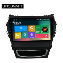 SINOSMART 9'' Support 4G Quad Core RAM 2G/1G Android 5.1 Car GPS Navigation for Hyundai IX45/Santa Fe Canbus Optional