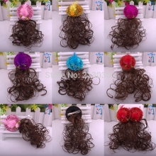 New Korean billycock Hairpin for kids Children's wig Hair accessory Hat design headwear with Clips for wedding party(China)