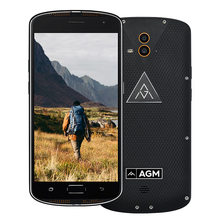 AGM X1 IP68 Waterproof Phone Qualcom Snapdragon 617 Octa Core 4GB RAM 64GB ROM 5400mAh Big Battery 13MP Dual Camera Smartphone