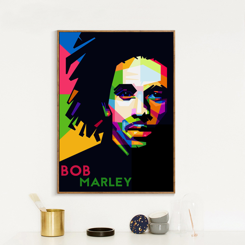 Bob Marley Abstract Canvas Print Framed Music Icon Wall Art Picture