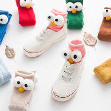 Buy Baby Girl Socks Cartoon Eyes Cotton Christmas Socks Children Cute Ankle Floor Boots Socks Anti slip Winter Warm Baby Socks for $9.77 in AliExpress store