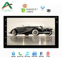 "Android 5.1 core 16G HD 1024*600 7"" Screen 2DIN Car Truck GPS Radio Stereo Player with APK 3G WIFI USB support Rear view camera(China)"