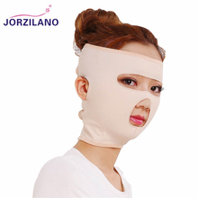 JORZILANO Good Effect Thin Face Mask Slimming Facial Masseter Reduce Double Chin Wrinkle Slim Face Belt Bandage Full Face Cover(China)