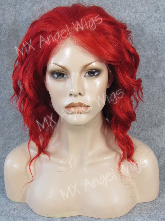 K17 Trendy Chic 14 Fashion Curly Red Color Synthetic Lace Front Wigs Heat Resistant Heavy Density kanekalon Women Festival Wigs<br><br>Aliexpress
