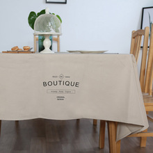 Japan Zakka Style Cotton Linen Tablecloth Wedding Party Solid Color Dinner Table Coth Coffee Tables Cover