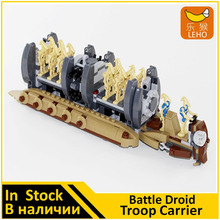 BELA Building Block 10374 Compatible with Space Wars Figures Battle Droid Troop Carrier 75086 Model Educational Toy for Children(China)