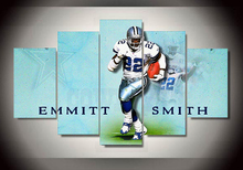 2016 top fashion unframed 5 pieces Emmitt Smith room decoration canvas posters living room decorate pictures(China)