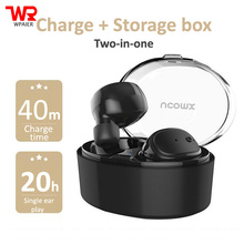 Buy WPAIER U08S Wireless Bluetooth headphones outdoor sport portable mini headsets Business office earphone charge/Storage box for $26.59 in AliExpress store