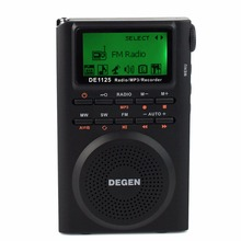 Degen DE1125 DSP Radio Digital Recorder FM Stereo MW SW AM MP3 E-Book 4GB 248 Station Digital Music Player LCD Radio FM D2976A(China)