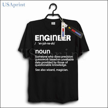 USAprint Mens Clothes Engineer T Shirts Funny Design Brand Clothing Male T-shirt Novelty Tops Man Tees Casual Dropship Wholesale(China)