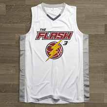 SYNSLOVEN design Men Basketball Jersey top Uniforms no.3 the flash theme Dwyane Wade Sports clothing mesh Breathable plus size(China)