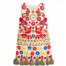 Girls Dress Rapunzel 2016 Autumn Winter Girls Christmas Dresses Kids Clothes Printed Princess Dress Toddler Clothing Children