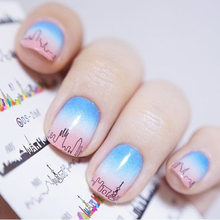 1 Sheet Nightscape Nail Art Water Decals Night Scene Transfer Stickers Nail StickerDS268 #24090(China)