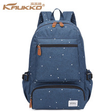 KAUKKO Business 14 inch Laptop Backpack Men Women Stylish Dots Oxford School Bag Simple Leisure Travel Rucksack Blue Grey Black(China)