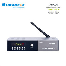 android satellite receiver android A8 plus DVB-S2 t2 C HD 4K H .265  support power vu  cccam oscam Europe Arbia French channels