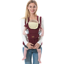 2017 Ergonomic Multi-function Baby Carriers Pure Cotton Face to Face Newborn Carry Fashion Casual Kids Children Sling Carriers(China)