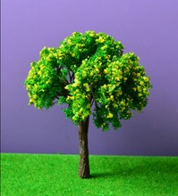 50pcs 8cm Scenery Landscape Train Model Trees  Mixed Color Flowers scale model color trees for architecture