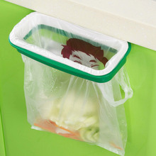 Green Kitchen Cupboard Tailgate Stand Storage Garbage Bag Holder Hanging Bags Trash Rack Good quality!(China)