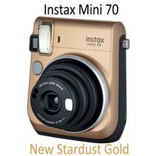 Fujifilm Fuji Mini 70 Instax Film Photo Camera Stardust Gold Color with Free Gift for Fujifilm Mini 8 70 90 Camera(Hong Kong,China)