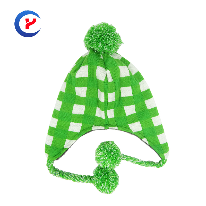 2017 NEW Fashion Plaid Outdoor Hats For Women Knitted Ski Hat Ear Protection Winter Hats Cap Caps Earflap braid hat ball x17Одежда и ак�е��уары<br><br><br>Aliexpress