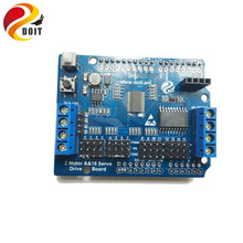 Original DOIT 2-Way Motor & 16-Way Servo Shield Board Compatible with Arduino for Mobile Robot Arm