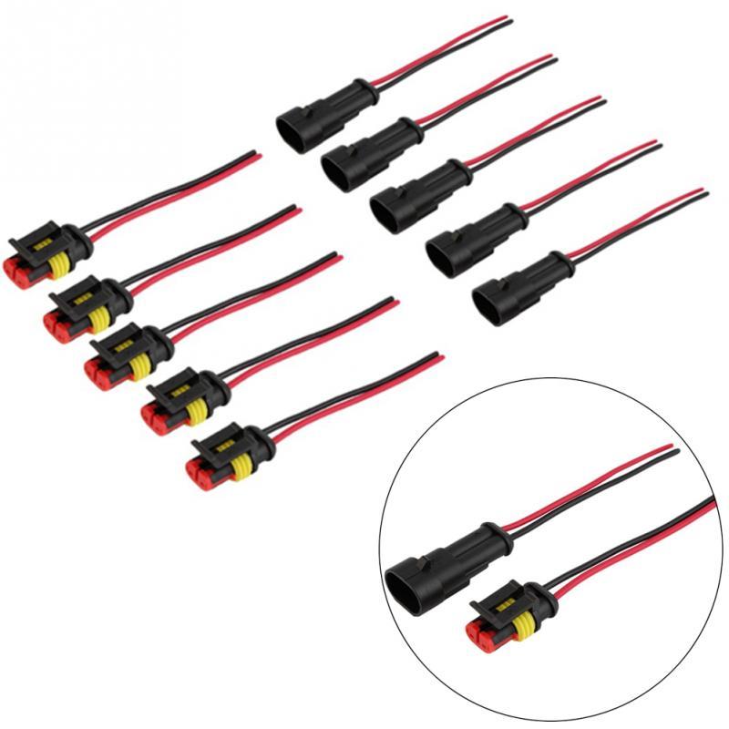 2 Pin 12v Buchsen Stecker Elektrische Kabel Wasserdicht Auto Atv Heiß Praktisch