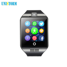Free shipping Smartwatch Q18 Passometer smart watch with Touch Screen camera TF card Bluetooth smartwatch pk DZ09