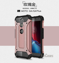 Anti-Shock Armor Case for Motorola Moto G4 Case Armor Silicone Hybrid Hard PC Case for Motorola Moto G4 Plus Cover 5.5 inch(China)