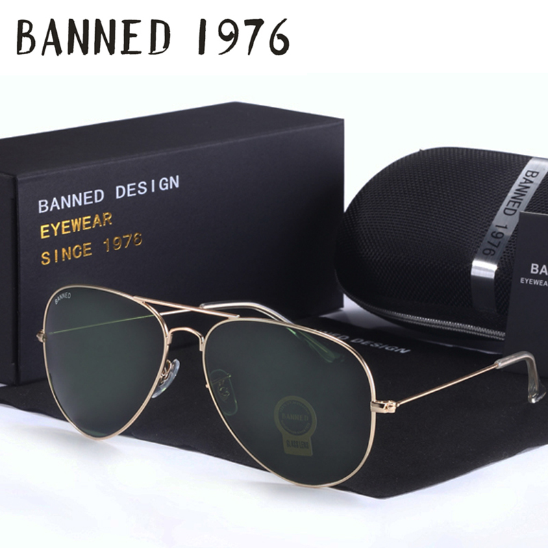 2017 Top quality G15 Glass lens designer brand Sunglasses women men vintage aviation sunglasses feminin new shades oculos de sol<br><br>Aliexpress