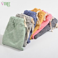 Top quality cotton baby boys girls harem pants kids children trousers boys girls clothes kids casual pants joggers 2-7year(China)