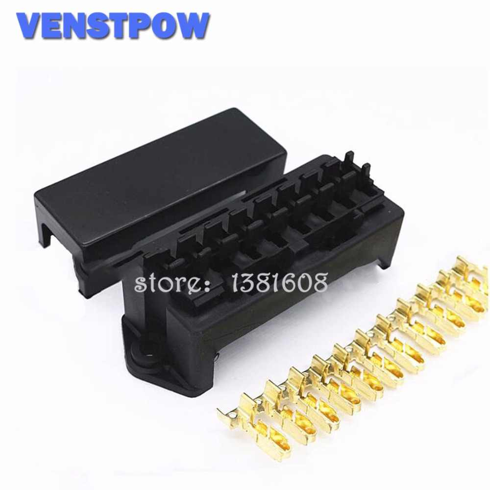 8 way black car seat medium relay fuse box assembly with 16pcs terminals car engine compartment insurance holder box mounting 20 amp fuse holder relay holder fuse box terminals #4