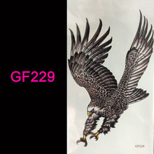 wholesale hot 3d tattoo Flash tattoos women arm temporary tattoo eagle body art sticker sex products bod tatto tatoo(China)
