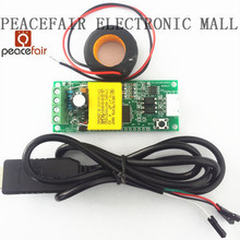 PEACEFAIR AC 80-260V 100A Electric Monitoring And Communication Module,TTL Port Power Energy Voltmeter, with CT and USB Cable