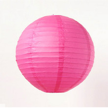"3pcs 16""(40cm)Rose Paper Chinese Lantern For Fashion Party Wedding Room Showcase Decoration Festival Decoration DIY(China)"