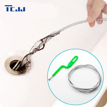 240cm Kitchen Accessory Hand Design Bendable Metal Cleaning Sewer Bathroom Sink Cleaner Brush Pipe Hair Cleaning Tool