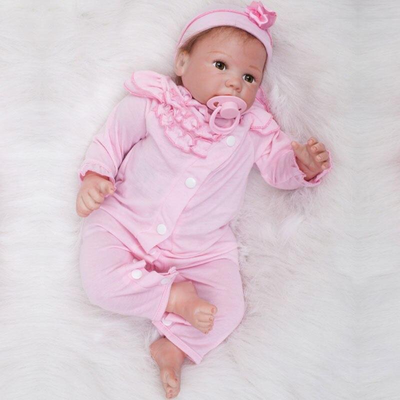 Fashion 20inch Doll Reborn 55CM Silicone Reborn Dolls Toys PP Cotton Body Newborn Reborn Doll Handmade Princess Doll Brinquedos<br><br>Aliexpress