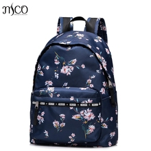 Women Nylon Waterproof Light Print Campus Backpack For Teenage Girls Student Collegiate School Travel PINK Backpack Laptop Bag