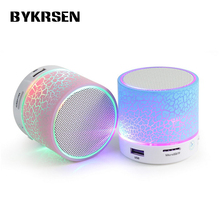 Mini Portable LED Bluetooth Speakers Wireless Small Music Audio TF USB FM Light Stereo Sound Speaker For Phone Xiaomi with Mic(China)