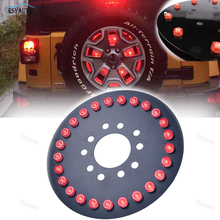 Car Lighting Spare Tire Light Third Brake LED Lamps Red Warning 3rd Tail Lights for Jeep Wrangler 1986-2017Jeep Accessories(China)