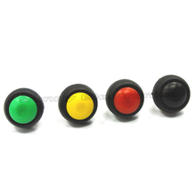 6PCS/LOT Black/Red/Green/Yellow/Blue/White 12mm Waterproof ON/OFF Push Button Round Switch Latching Switch(China)
