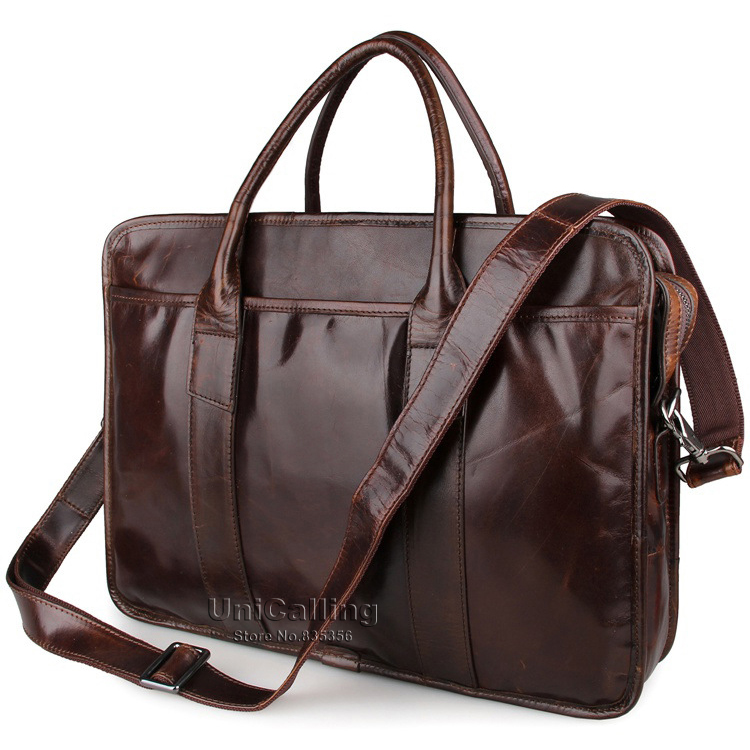 Laptop bag 15 inch genuine leather men business bag laptop messenger bag high quality leather men handbag laptop shoulder bag<br><br>Aliexpress