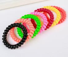 1Pc Telephone Cord Hair Clip Black and Colorful Hair Plate Tool Donut Bun Maker Former Twist Tool Mobile Phone Strap Wholesale