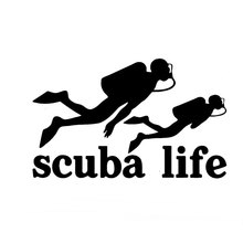 15.3CM*9.4CM Scuba Life Dive Diving Car Auto Vinyl Die-Cut Decal Sticker Car Styling Car Decoration Black Sliver C8-0754