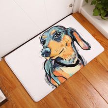 Lovely Dog Painting Carpets Modern Style Anti-slip Floor Mat Outdoor Rugs Waterproof Front Door Mats(China)