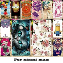 Luxury Painted Mobile Phone Skin Cases For Xiaomi MAX Mi Max Covers Anti-Scratch Protective Bags 18 Styles Plastic Durable Shell