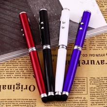 4 in 1 Laser Pointer LED Torch Touch Screen Stylus Ball Pen for iPhone for Ipad for Samsung Portable